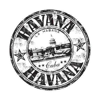 Vinilo para Pared La Habana grunge rubber stamp