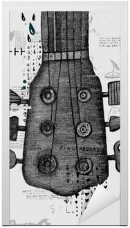 Vinilo para Puerta Гриф от гитары