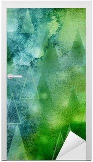 Vinilo para Puerta Abstractamente lichter weihnachtsbäume