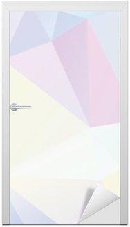 Vinilo para Puerta Geométrico del polígono en colores pastel