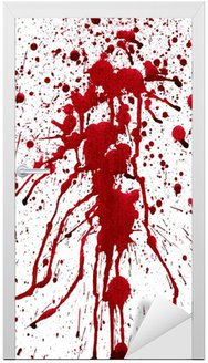 Vinilo para Puerta Salpica con sangre