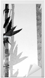 Vinilo para Puerta Textura de bambú