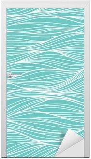 Vinilo para Puerta Vector sin fisuras patrón abstracto, ondas