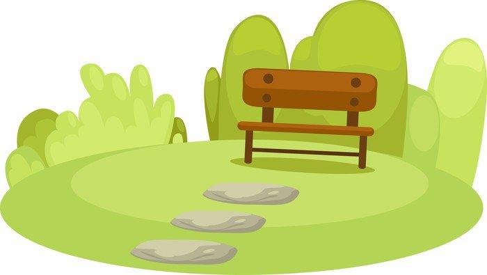 Vinilo Pixerstick Parque Pequeño De Dibujos Animados