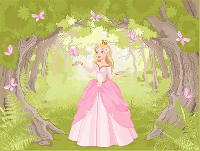 Pixerstick para Todas las Superficies Paseando princesa en el bosque fantástico
