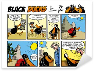 Pixerstick para Todas las Superficies Patos negros Comic Strip episodio 54