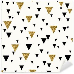 Vinilo Pixerstick Patrón abstracto sin fisuras geométrica.