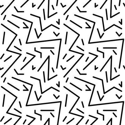 Pixerstick para Todas las Superficies Patrón de cosecha geométrico transparente en estilo retro años 80, de Memphis. Ideal para el diseño de la tela, papel de impresión y el sitio web telón de fondo. archivo vectorial EPS10