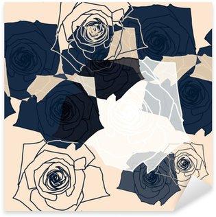 Vinilo Pixerstick Patrón de flores sin fisuras, Eps 10