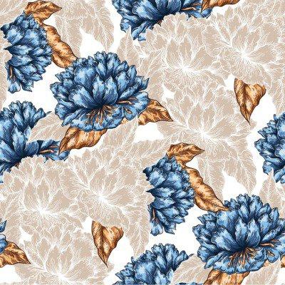 Pixerstick para Todas las Superficies Patrón de flores sin fisuras gráfico