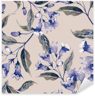 Vinilo Pixerstick Patrón de flores sin fisuras Weigelas