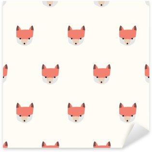 Vinilo Pixerstick Patrón de zorro lindo transparente