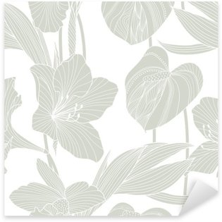 Vinilo Pixerstick Patrón floral sin fisuras