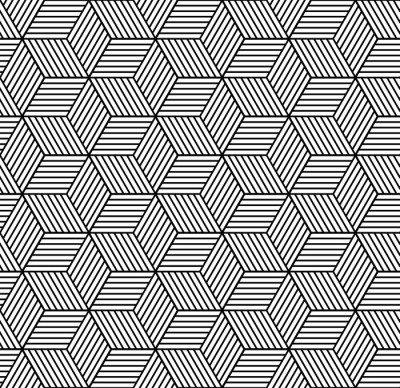 Pixerstick para Todas las Superficies Patrón geométrico transparente con cubos.