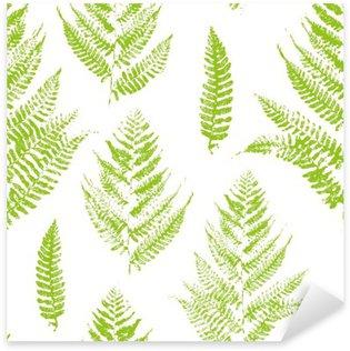 Pixerstick para Todas las Superficies Patrón sin fisuras con las impresiones de la pintura de las hojas del helecho
