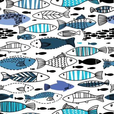 Pixerstick para Todas las Superficies Patrón transparente bajo el agua con peces. Sin fisuras patrón se puede utilizar para fondos de pantalla, fondos de páginas web