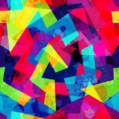 Pixerstick para Todas las Superficies Patrón transparente geométrica brillante con efecto grunge