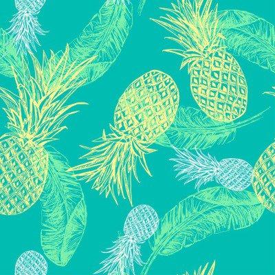 Pixerstick para Todas las Superficies Patrón transparente tropical.