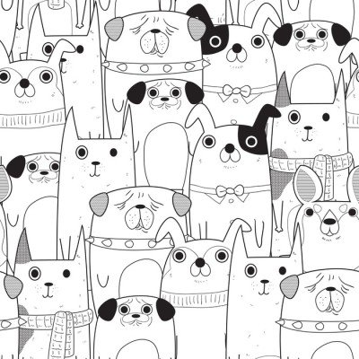 Pixerstick para Todas las Superficies Perros seamless pattern