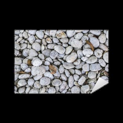 Vinilo pixerstick piedra redonda de la textura del suelo for Laminas adhesivas pared
