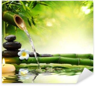 Pixerstick para Todas las Superficies Piedras de spa en el jardín con agua de flujo