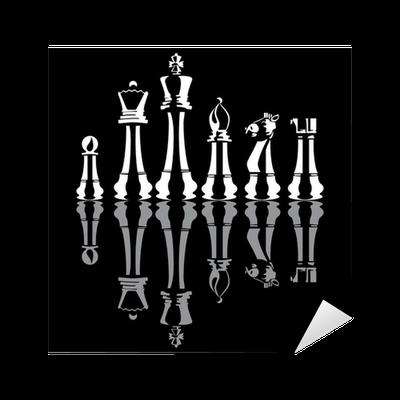 Vinilo pixerstick piezas de ajedrez vector pixers for Vinilos para piezas