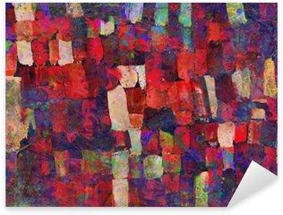 Vinilo Pixerstick Pintura del arte abstracto