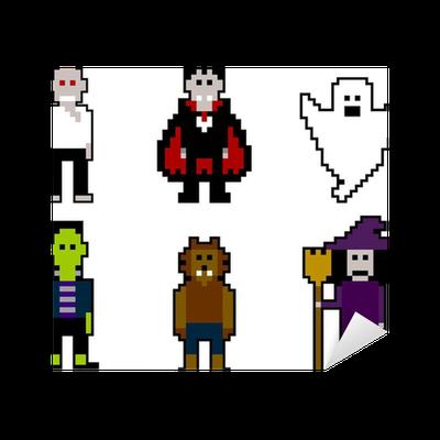 Vinilo pixerstick pixelart halloween pixers vivimos para cambiar - Fotomurales pixel ...
