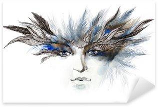 Vinilo Pixerstick Plumas alrededor de los ojos (serie C)
