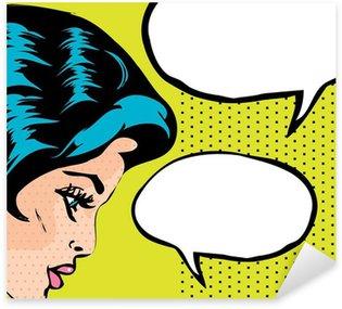 Pixerstick para Todas las Superficies Pop Art ilustración vectorial de una mujer