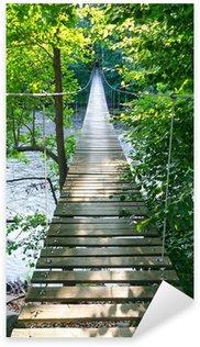 Pixerstick para Todas las Superficies Puente colgante sobre el río sueco Morrum
