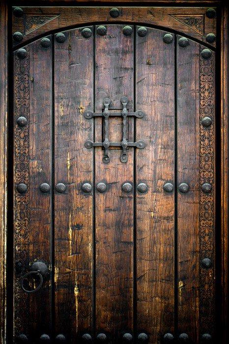 Vinilo pixerstick puerta de madera antigua pixers - Vinilos para puertas de madera ...