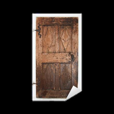 Vinilo pixerstick puerta de madera vieja pixers for Puerta vieja madera