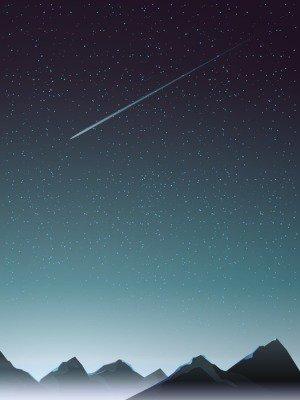 Pixerstick para Todas las Superficies Punto de vista de la montaña con el cometa cuando la noche