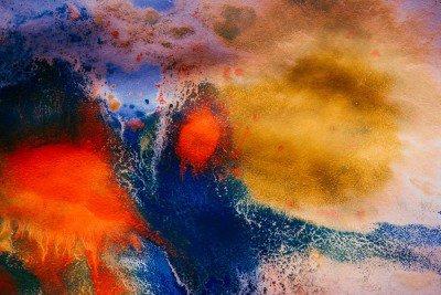 Pixerstick para Todas las Superficies Rachas secas de pintura multicolor con las grietas