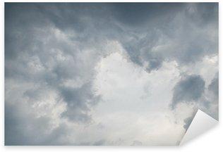 Pixerstick para Todas las Superficies Rainy (o la lluvia) la nube, gris color de fondo