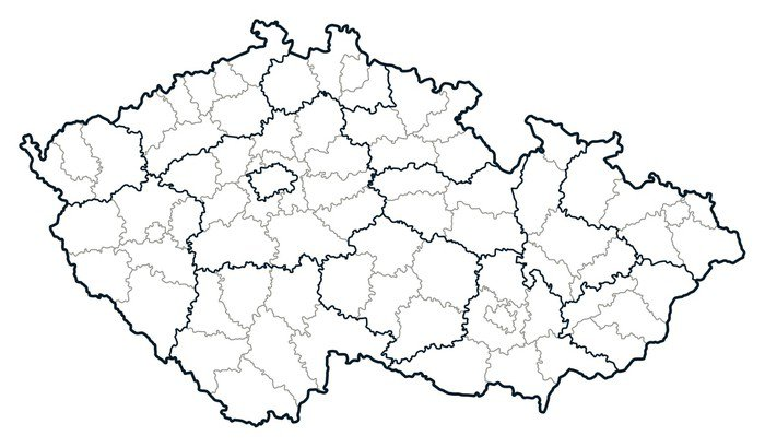 Vinilo Pixerstick Repblica Checa mapa vectorial  Pixers