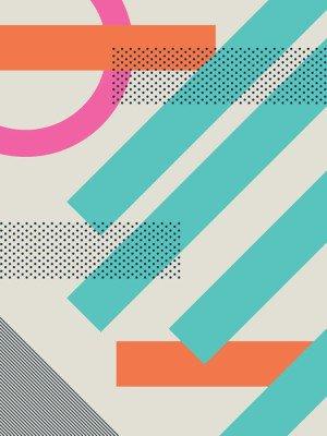 Pixerstick para Todas las Superficies Resumen de fondo 80s retro con formas geométricas y patrones. fondos de escritorio de diseño de materiales.