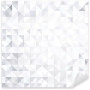 Pixerstick para Todas las Superficies Resumen fondo blanco y gris estilo geométrico