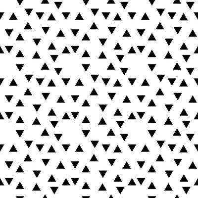 Pixerstick para Todas las Superficies Resumen patrón geométrico triángulo al azar blanco y negro de moda del inconformista