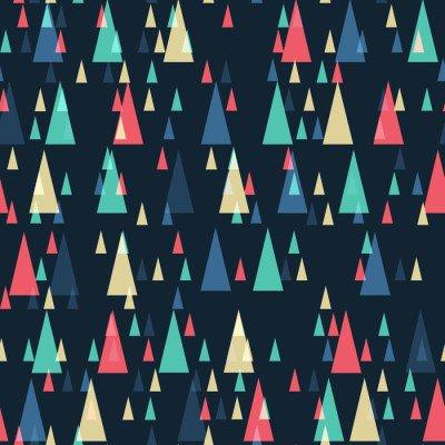 Pixerstick para Todas las Superficies Retro geométrica de los triángulos de patrón transparente