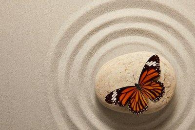 Pixerstick para Todas las Superficies Roca del zen con la mariposa