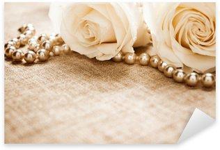 Pixerstick para Todas las Superficies Rosas blancas y perlas