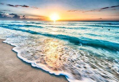 Pixerstick para Todas las Superficies Salida del sol sobre la playa en Cancún