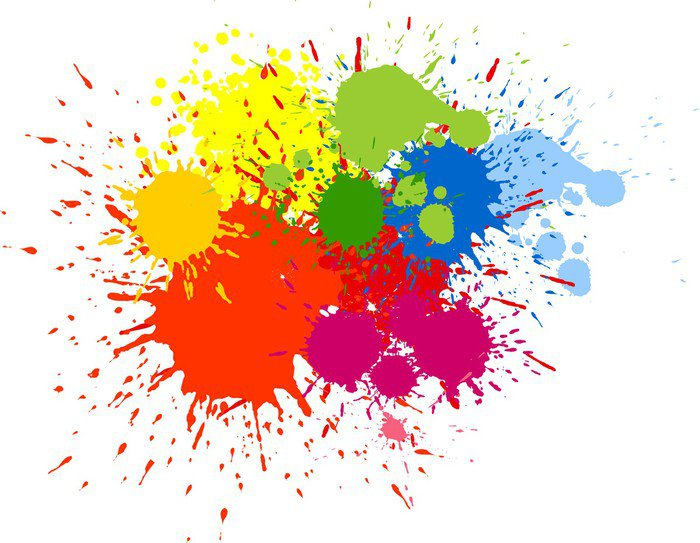 vinilo pixerstick salpicaduras de pintura de color