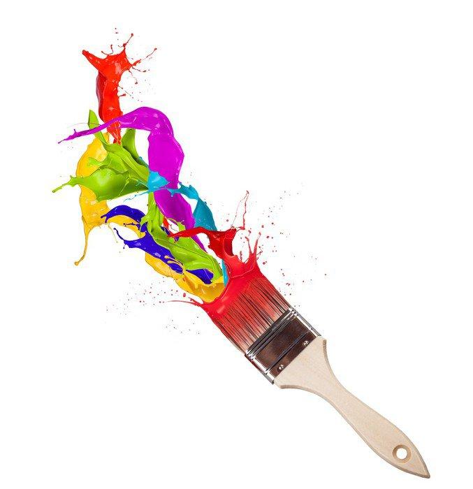 Vinilo pixerstick salpicaduras de pintura de colores que salpican de pincel pixers vivimos - Salpicaduras de pintura ...