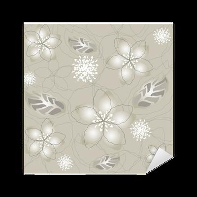 Pixerstick para todas las superficies seamless gris plata - Papel pintado gris y plata ...