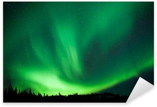 Pixerstick para Todas las Superficies Taiga bosque boreal aurora boreal substorm remolino