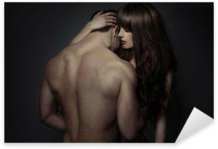 Vinilo Pixerstick Tender jóvenes amantes románticos