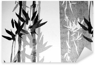 Vinilo Pixerstick Textura de bambú